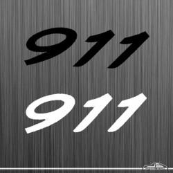 Autocollant 911 italique