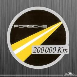 Autocollant Porsche Km 200 000