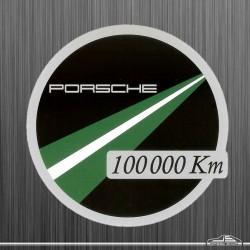 Autocollant Porsche Km 100 000